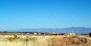 KWDZ - The radio towers for KWDZ were located in Riverton, Utah. They have since been dismantled due to encroaching housing developments.