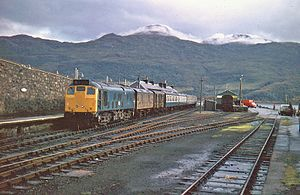 Kyle of Lochalsh railway station - Kyle station in September 1973