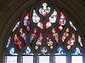 L'abbaye de la Trinité - Vitrail flamboyant.JPG