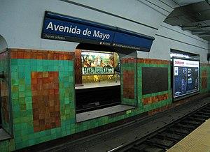 Avenida de Mayo (Buenos Aires Underground) - Image: Línea C Estación Avenida de Mayo