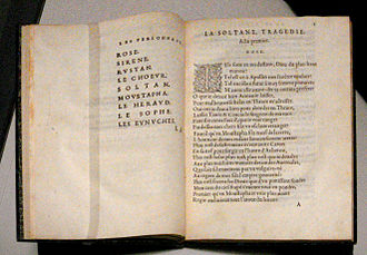 Şehzade Mustafa - The murder of Mustafa in 1553 was the subject of the 1561 French tragedy La Soltane by Gabriel Bounin.