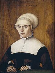 Portrait de femme (épouse de Jorg Zörer(?))