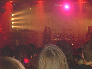 Lacuna Coil - Lacuna Coil performing in Oxford