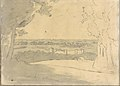 Landscape with a Distant Buildings (Smaller Italian Sketchbook, leaf 23 recto) MET DP269433.jpg