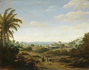 Landscape on the Rio Senhor de Engenho, Brazil