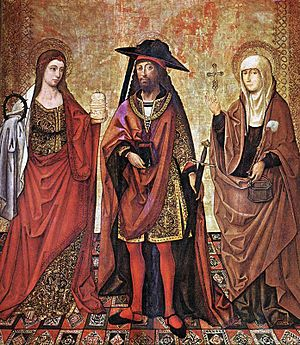 St Lazarus between Martha and Mary/ The artist...