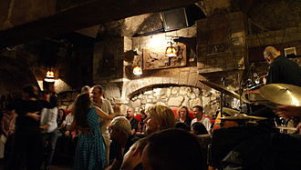 The Cavern Club - Le Caveau de la Huchette, jazz club in Paris, the model for the Cavern.