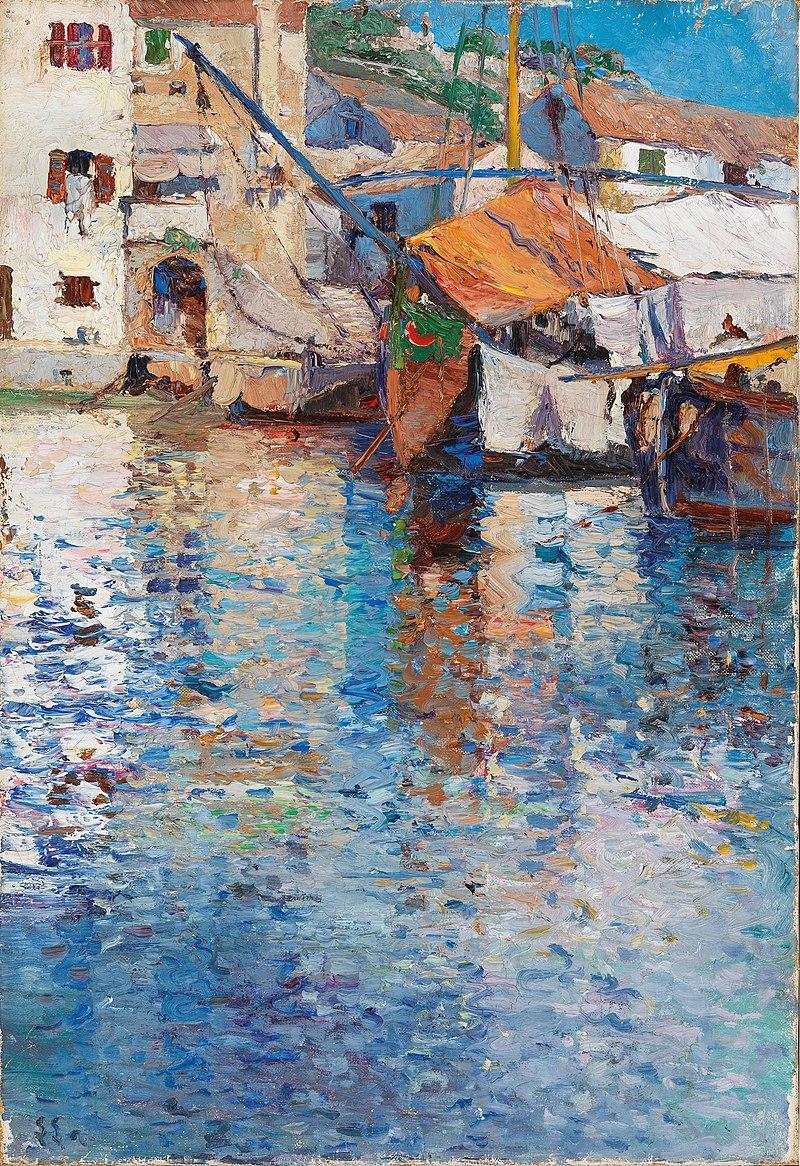 Леа фон Литтроу - Солнечный день в Старом Harbour.jpg