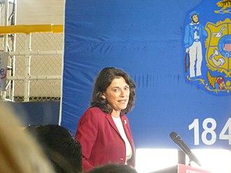 "Leah Vukmir - Vukmir speaking at a ""Women for Romney"" rally at Marquette University on September 20, 2012"