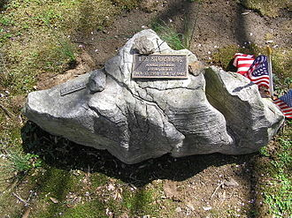 Lee Strasberg - The rock at Lee Strasberg's grave at Westchester Hills Cemetery