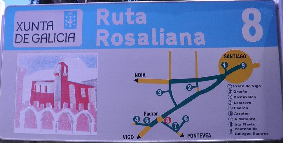 Letreiro da Ruta Rosaliana