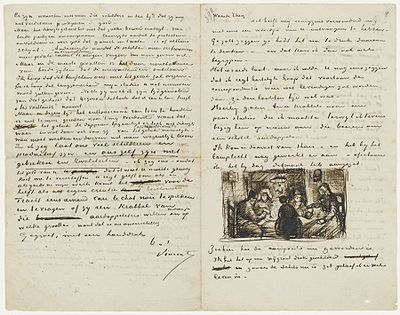 more than 650 letters from vincent van gogh to his brother theo are preserved in april 1885 vincent wrote his brother about his first masterpiece the