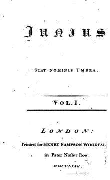 Letters of Junius, volume 1 (Woodfall, 1772).djvu