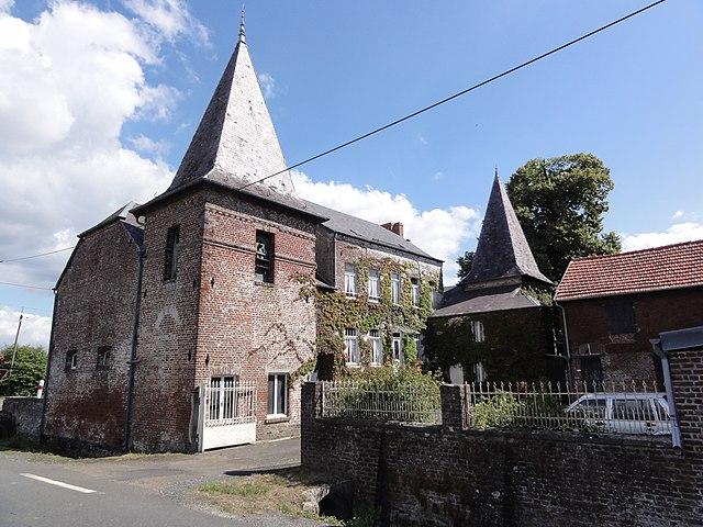 file leval nord fr les fontenelles maison aux deux tours wikimedia commons. Black Bedroom Furniture Sets. Home Design Ideas