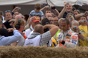 Lewis Hamilton at the Goodwood Festival, Engla...