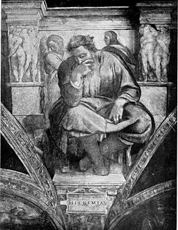 Life of Michael Angelo, 1912 - The Prophet Jeremiah