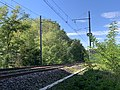 Ligne ferroviaire Mâcon Ambérieu près Autoroute A406 Crottet 2.jpg
