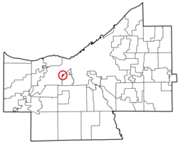 Location of Linndale in Cuyahoga County