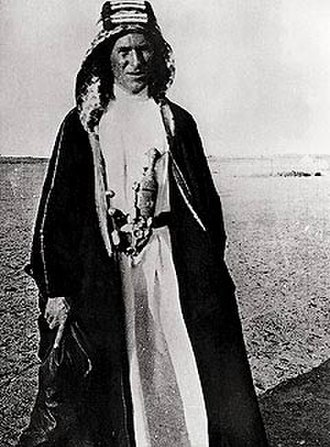 T. E. Lawrence - Lawrence at Rabigh, north of Jeddah, 1917