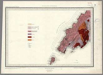 Llŷn Peninsula - 1850 Geological map of part of Llŷn