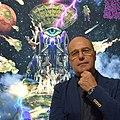 Lo scrittore Giordano Berti alla mostra di Tarocchi al MEF di Torino.jpg