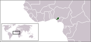 Republic of Benin (1967) - Image: Location Repof Benin