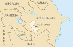 Нагорно-Карабахская автономная область на карте