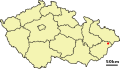 Location of Czech city Rožnov pod Radhoštěm.svg