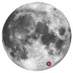 Location of lunar crater janssen