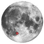 Location of lunar crater thebit