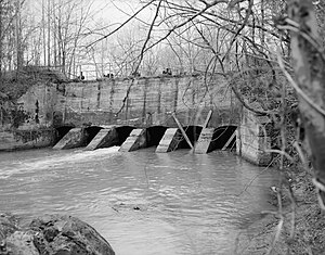 Deep River (North Carolina) - Lockville Hydroelectric Plant on Deep River is listed on the National Register of Historic Places.