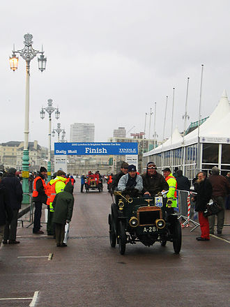 London to Brighton Veteran Car Run - Finish line of the London to Brighton Veteran Car Run, 2005