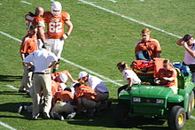 McCoy prior to being taken off the field near the end of the Texas A M game 41cd35c74