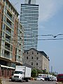 Looking east at the Distillery district, 2013 08 21 (2).JPG