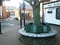 Looking past a frosty seat towards the former Streets Craft Shop - geograph.org.uk - 1072464.jpg