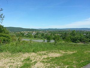 Lopatcong Township, New Jersey - View of Lopatocng from the base of Marble Mountain.