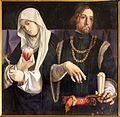 Lorenzo lotto, polittico di san domenico di recanati, 1508, 08 ss. caterina da siena e sigismondo.jpg