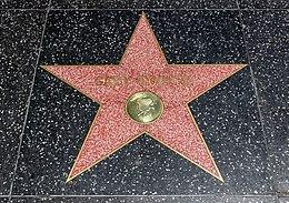 La stelo de Photo of Gary Cooper sur la Trotuaro de famo en Holivudo