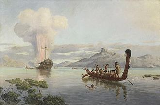 Māori people - The Blowing Up of the Boyd by Louis John Steele, 1889