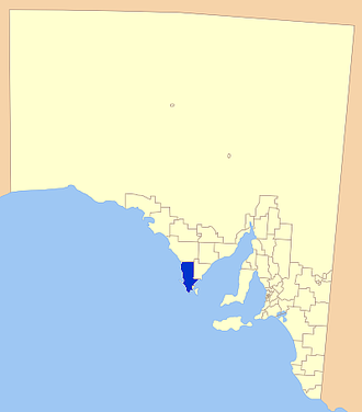 District Council of Lower Eyre Peninsula - Location of the District Council of Lower Eyre Peninsula