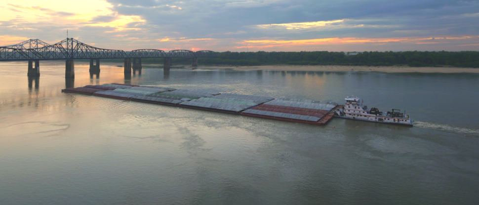 Lower Mississippi River barge