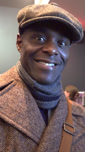 Paterson Joseph - Joseph at the reception for Sancho at BAM in Brooklyn