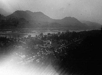 Luang Prabang - view of Luang Prabang, 1897