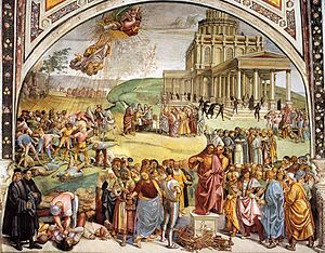 Luca Signorelli - Sermon and Deeds of the Antichrist - WGA21202.jpg