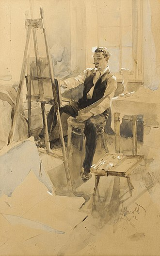 Luděk Marold - The Artist in His Studio (1892)