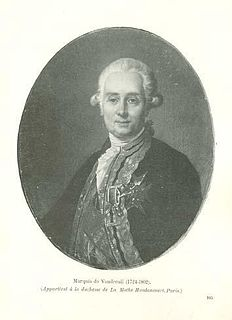 Louis-Philippe de Rigaud, Marquis de Vaudreuil French Navy officer and statesman