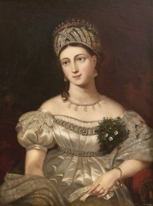 Princess Louise of Saxe-Gotha-Altenburg (1800–1831) - Painting by William Corden, 1844 known as William Corden the Elder (1795-1867)
