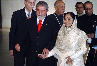 Brazil–India relations - Image: Lulae Patil