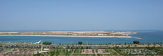 Corniche (Abu Dhabi) -  Lulu Island from the Corniche