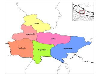 Lumbini Zone - Image: Lumbini districts